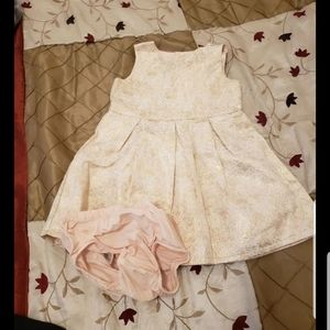 Rose gold special occasion carters 18m dress for b